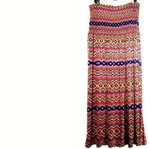 2X Mlle Gabrielle Smocked Strapless Maxi Dress